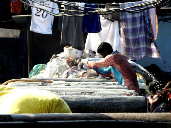 washing away