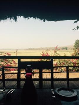 Breakfast views at The Bison - Kabini