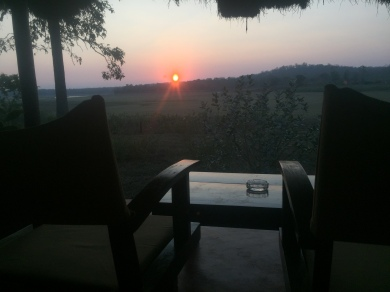 Sunset views from the room at Kabini